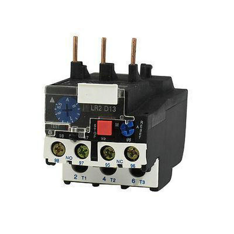 LR2 D13 8A 5.5-8A 3 Phase 1NO 1NC Motor Protection Electric Thermal Overload Relay JR28-25 jr28 13 manual reset 3 phase motor