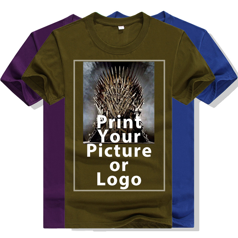 Men Casual Cotton Tshirt DIY Your OWN T Shirt Custom Printed Design Pictures/Logo Women's Short Sleeve T-shirt Tops Tee
