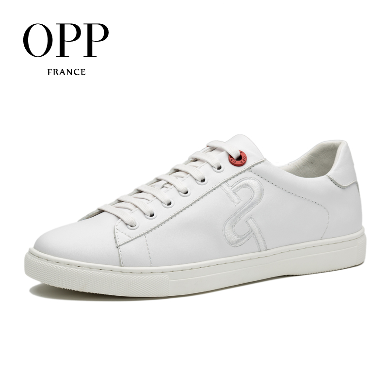 цены на OPP 2017 Men Shoes Loafers For Men Cow Leather Flats White Shoes Casual Shoes Cow Leather Loafers footwear for Men Lace up Flats