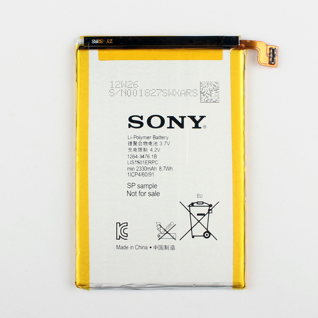 Original Sony LIS1501ERPC Battery For SONY Xperia ZL L35h ZL X ZQ C650X C6502 C6503 C6506  L35 L35i L35a LT35h LT35i 2330mAh