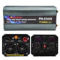Пик Мощность 5000 W Модифицированная синусоида инвертор для зарядки автомобильного аккумулятора 12 V 220 V двойной Напряжение Дисплей Вентилято