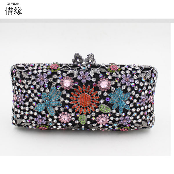 XIYUAN BRAND Women silver Bag Wedding party Clutch Bags Luxury Crystal Diamonds Party day Clutches Fashion gold Stones Purse подвесная люстра st luce onde sl116 503 03 page 2
