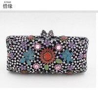 Xiyuan бренд Для женщин мешок серебра Свадьба сцепления Сумки роскошный кристалл партии алмазов день Клатчи модные золотые Камни кошелек