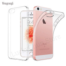 Wangcangli TPU Solf Transparan Silicone Back Cover UNTUK iPhone 5 5S SE 6 S 6 S Case TPU Phone Case untuk iPhone 5 5s Se 6 S 6 S(China)