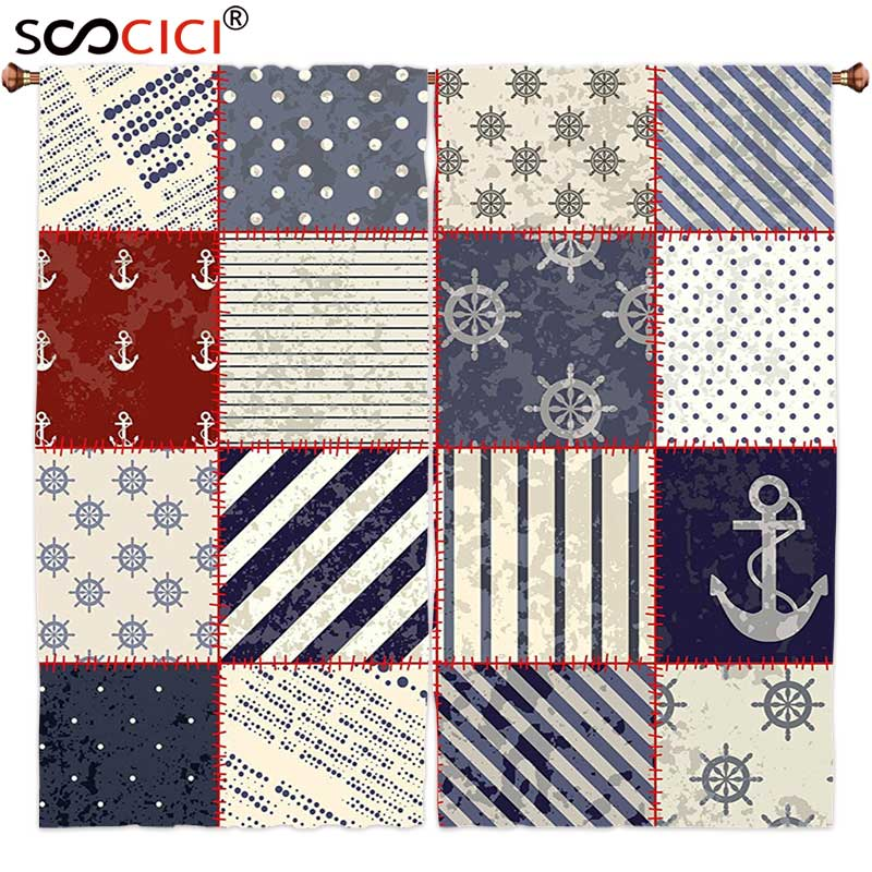 Lunarable Nautical Place Mats Set of 4 Maritime and Nautical Life Design with Vintage Sailor Knots and Anchor Motifs Washable Fabric Placemats for Dining Room Kitchen Table Decoration Beige Blue