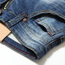 AIRGRACIAS Men Jeans Design Biker Jeans Strech Casual Jean For Men Hight Quality Cotton Male Long Trousers 32 33 34 36 38 40