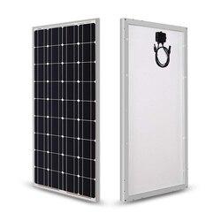 Солнечная панель 100 Вт 200 Вт 18 в 12 В 24 В, светильник со стеклянным закалом, солнечная панель, моно кристаллические элементы, солнечное зарядно...