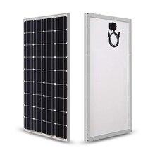Panel Solar 100w 200w 18V 12V 24V luz cristal templado Panel Solar monocristalino cargador de batería solar