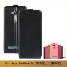 For Asus ZenFone Go ZB500KL ZB500KG Case PU Leather Case For ZenFone ZB500KL Flip Phone Cases Cover & Photo Card Slot