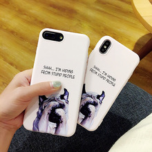 Newest Super Cute Phone Cases for Apple iPhone x Case Fashion IMD soft shell Funny  Dog Back Covers For iphone 6 6S 7 8 plus
