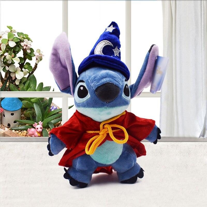 Cartoon Stitch Cosplay Magician Plush Toys Doll 1024CM Cute Stich Soft Stuffed For Children Kids Birthday Gift