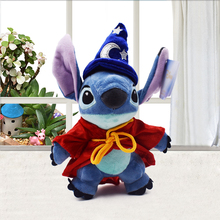 Cartoon Stitch Cosplay Magician Plush Toys Doll 1024CM Cute Stich Soft Stuffed For Children Kids Birthday Gift