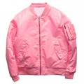 Rosa Homens Jaqueta Bomber Streetwear Mulheres 2017 Inverno Cor Sólida em branco Jaquetas Hip Hop Roupas Mens Kanye West 9 Cores 4XL