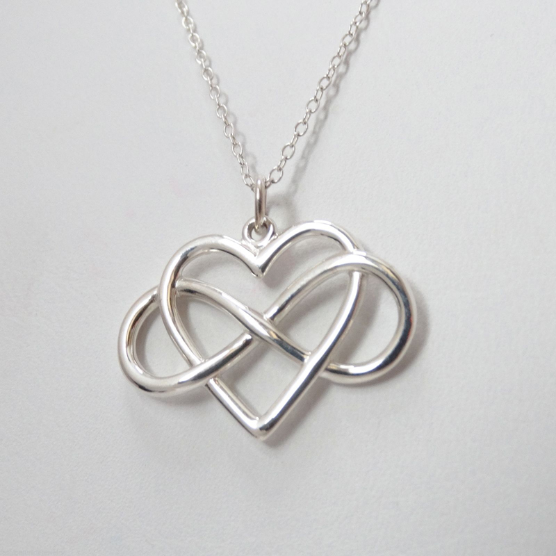 Trendy Tiny Infinity Heart Pendant Necklace Women Silver Plated Chain Lover Lady Girl Gifts Bijoux Fashion Jewelry
