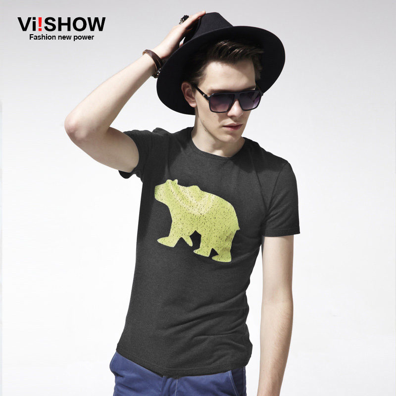 Brand mens t shirts fashion 2016 Summer dress short Sleeve T-shirt Casual cartoon O-Neck Male sport suit T-shirt Slim Fit Tops