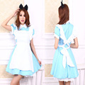 Adult Kid Plus Size XXL Alice In Wonderland Costume Lolita Dress Maid Cosplay Fantasia Carnival Halloween Costume For Women Girl