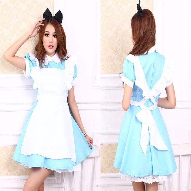 Alice In Wonderland Costume Lolita Dress Maid Cosplay