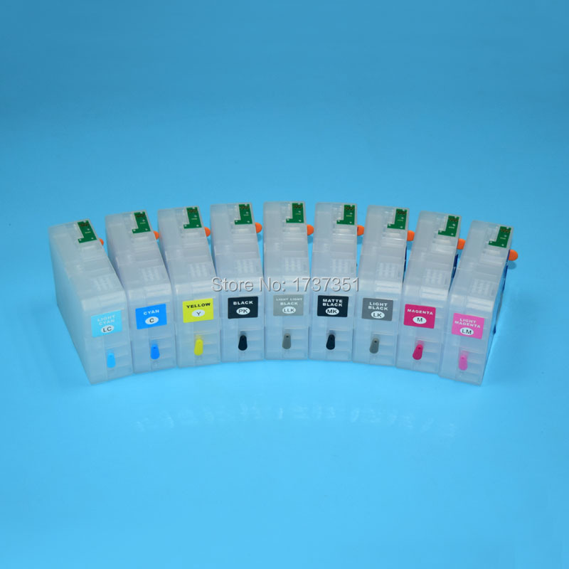 T5801-T5809 80ml refill ink cartridge with chip sensor for Epson Stylus Pro 3800 inkjet printer T5801 купить