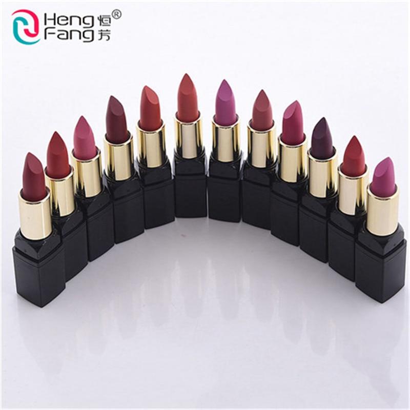 12pcs/Set lip kit matte Velvet Lipstick Long Lasting Nutritious Lip Sticks Lip Balm Lips Makeup Batom Cosmetic HengFang