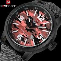Men Sport Watch Fashion Men Quartz Watch NAVIFORCE Brand Male Calender Back Light Clock30M Waterproof Wristwatches