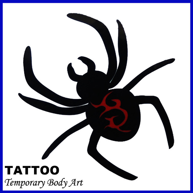 f40c94ef7 Sexy Temporary Tattoo Stickers Temporary Body Art Supermodel Stencil  Designs Waterproof Black Spider Tattoo Pattern Hot sales