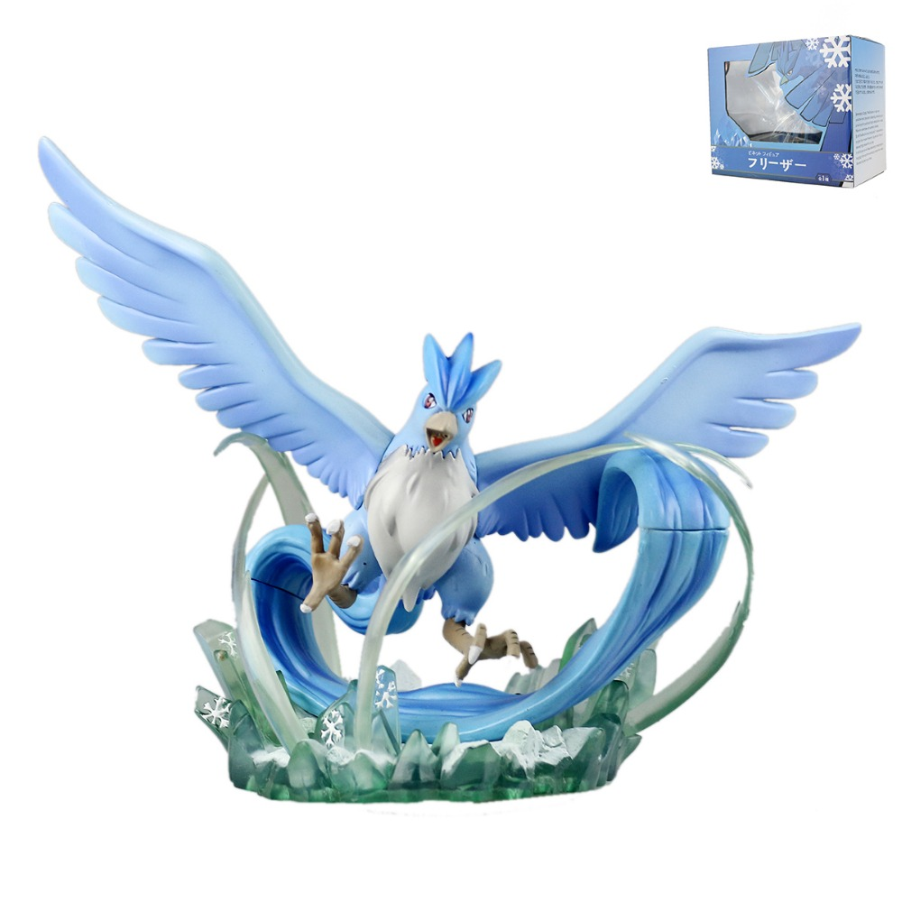 ФОТО PokeStudios Pocket Monster Japanese Anime Action Figure Articuno Wings Collectible Figure PKQ073