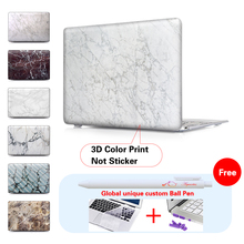 Marble Wallpaper Notebook Crystal Case For Macbook  Air 13 Case Matte air 11 For Macbook Pro 13 15 case Touch Bar A1706 A1707