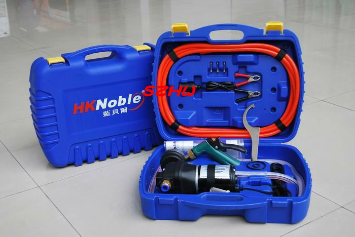 HKnoble DC12V Practical Utility Vehicle Portable Washing Machine, Car Cleaner, Car Cleaning Brush, Mobile DC12V Car Washer Tool