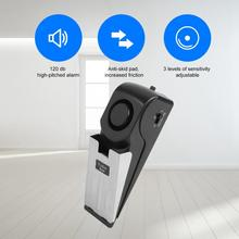 Stainless steel Door Stop Alert alarm 120db Portable Wedge Shaped Wireless Stop Alarm Home Travel Security System tope puerta new 120db door stop alarm system home security wedge shapped stopper blocking system for hotel travelling