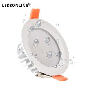 Image 2 - 품질 방수 IP65 LED 통 AC85 220V 7W 9W LED 램프 Recessed LED 스포트 라이트 욕실 주방에 대 한