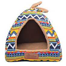 New Fashion Dog Flag Removable Cover House Mat Beds For Small Medium Dogs Pet Products for Cats S/M/L