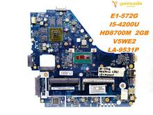 Original for ACER E1-572 laptop motherboard E1-572G I5-4200U HD8700M 2GB V5WE2 LA-9531P tested good free shipping