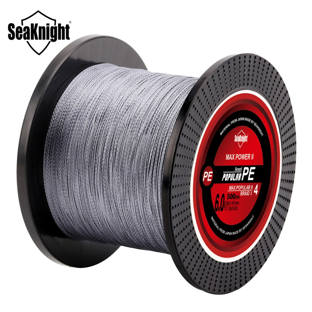 500M SeaKnight Brand Tri-Poseidon Series High Quality Japan Multifilament PE Braided Fishing Line 8 10 15 20 30 40 50 60LB Linha