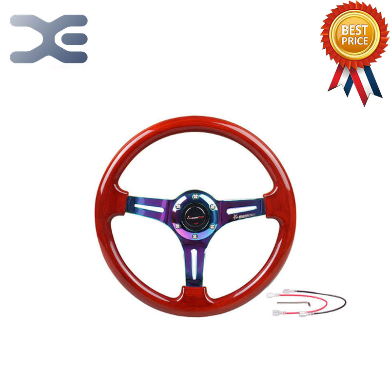 Red ABS Color Racing Modified Steering Wheel Universal Steering Wheel For Car Sport Car Accessories carking diy abs steering wheel covers stickers for bmw mini cooper red blue multi color