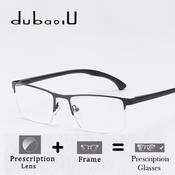 Alloy Prescription Glasses Fashion Rectangle Half Rim Computer ...