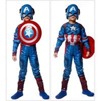 Nueva Película Muscular Capitán Americano COS Traje de Halloween Cosplay Boy Venta Caliente Embroma La Ropa de La Mascarada de Disfraces 7188H177427