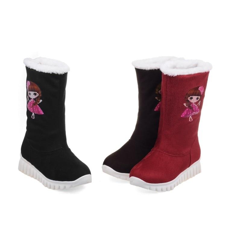 Nieve Largo 46women's rojo De Invierno Marti Bajo 2016 Ladieskeep Gladiador 568 X Negro Moda Botas marrón 34 Caliente Zapatos Gran Tamaño Talón xfAwPzXFqw