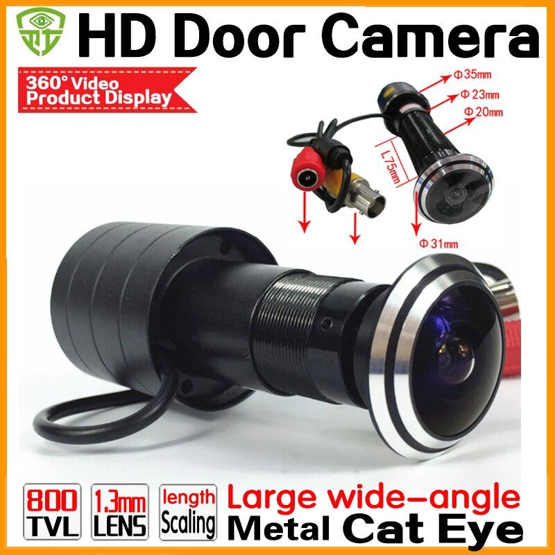 HD 110 grad 1,78mm Fisheye weitwinkel tür katze auge Kugel Mini guckloch Video Sicherheit Überwachung CMOS 800TVL CCTV kamera