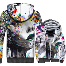 Women 3D Print Hoodie Men Casual Hooded Sweatshirt Mens Winter Thick Fleece Warm Zip up Coat Jacket Plus Size 5XL Brand Clothing