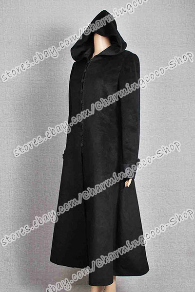 Twilight Movie New Moon Cosplay Costume Volturi Jane Black Coat Wool Halloween
