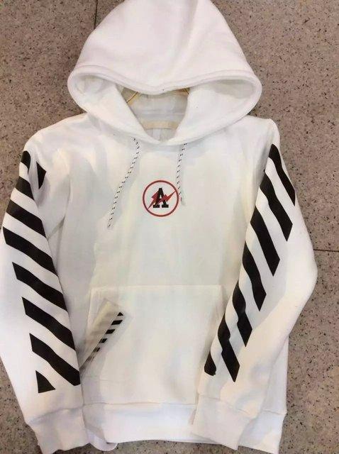 OFF WHITE c/o Virgil Abloh X Fragment Design Kanye West hoodie fashion men city