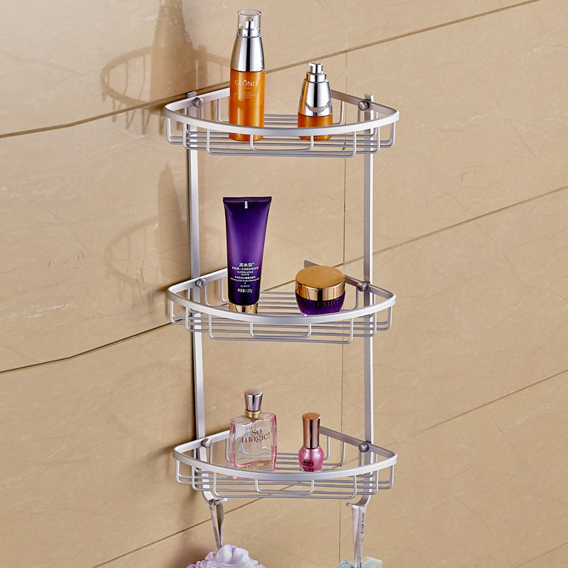 New Home Bathroom Racks Three Layer Mesh basket Triangular space ...