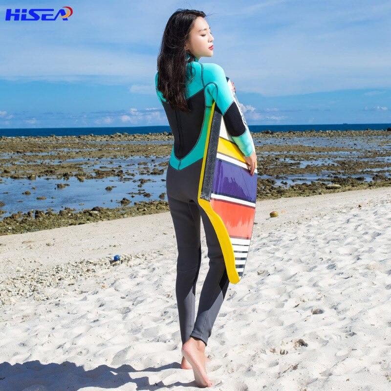 Hisea Wetsuit Full 1.5mm Neoprene Long Sleeve Jumpsuit Scuba Diving Surf Women-in Wetsuit from Sports & Entertainment    2