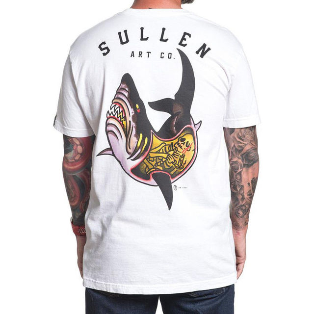060d5cf34f0 SULLEN CLOTHING Shark Attack Choloha Capsule T-Shirt White S-3XL NEW  Comfortable t shirt Casual Short Sleeve Print 100% Cotton