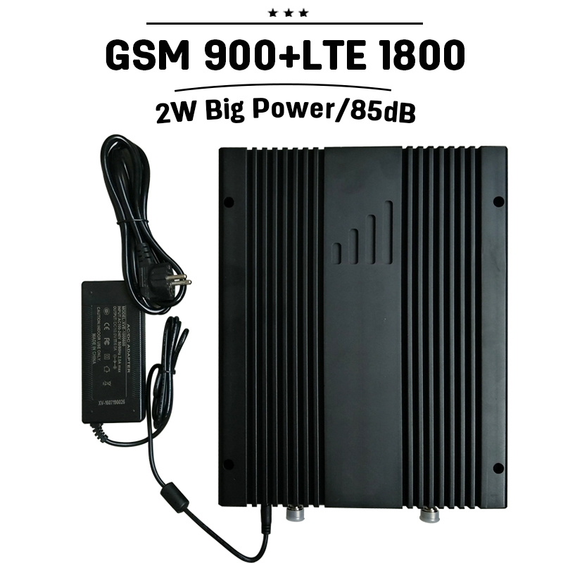 2W 33dBm Big Power GSM 900 DCS 1800 4G LTE 1800mhz Mobile Signal Booster 85dB Gain MGC Cellphone LTE Repetidor 2G For Project#41