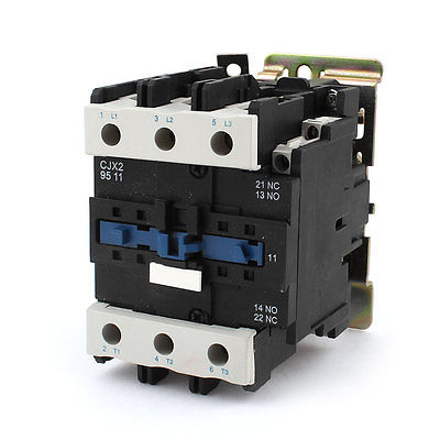 CJX2-9511 LC1 AC Contactor 95A 3 Phase 3-Pole Coil Voltage 380V 220V 110V 36V 24V Din Rail Mount 3P+1NC+1NC Factory WholesaleCJX2-9511 LC1 AC Contactor 95A 3 Phase 3-Pole Coil Voltage 380V 220V 110V 36V 24V Din Rail Mount 3P+1NC+1NC Factory Wholesale