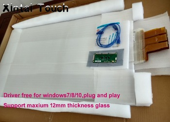 Xintai Touch 49 inch 20 real points interactive touch foil Film through glass window, capacitive multi touch film overlay
