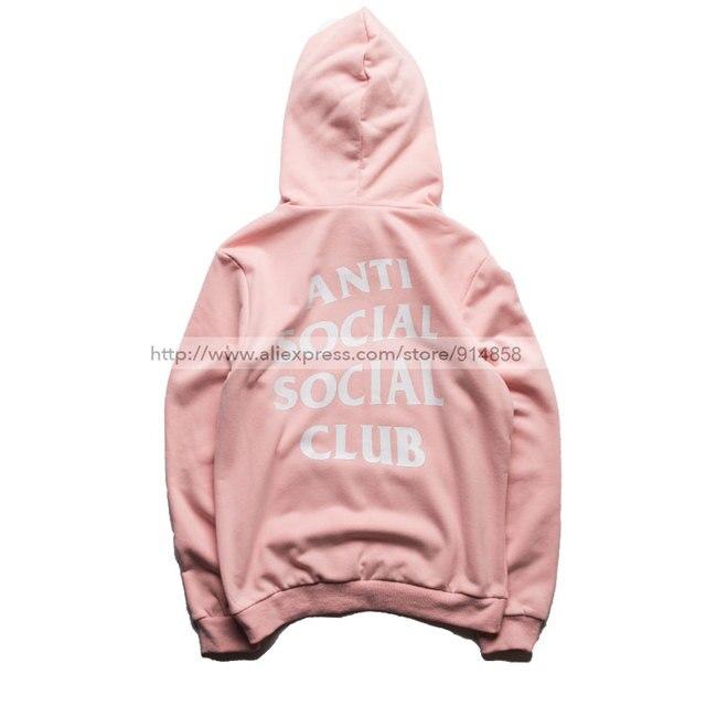 Treetwear Hip Hop Kanye West Black/White/Pink Hoodie Fashion Killa Brand Clothing Skate Sweatshirts Assc Anti Social Social Club