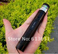 Sterke macht, groene laser pointer 5000 mw 5 w high power 532nm focusable burn match, branden sigaretten, pop ballon, lader + geschenkdoos