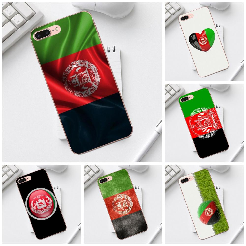 Qdowpz TPU Printing <font><b>Afghanistan</b></font> Flag For iPhone X XS Max XR 4 4S 5 5C SE 6 6S 7 8 Plus Galaxy A3 A5 J1 J3 J5 J7 2017 image